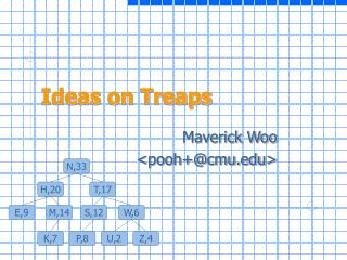 Ideas on Treaps