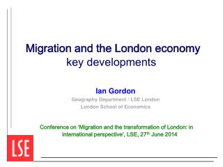 Migration and the London economy  key developments