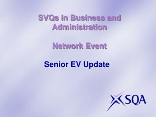 SVQs in Business and Administration Network Event
