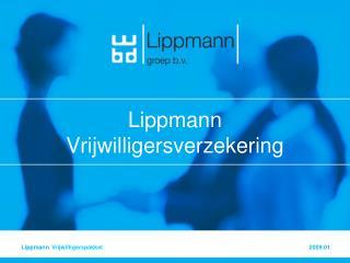 Lippmann Vrijwilligersverzekering