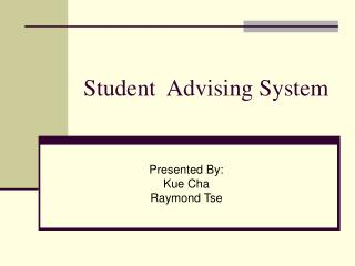 Student  Advising System