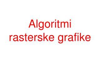 Algoritmi rasterske grafike