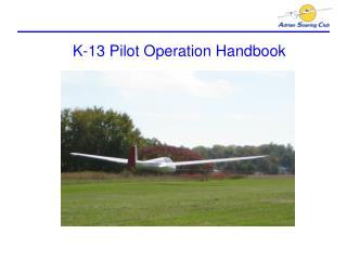 K-13 Pilot Operation Handbook