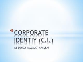 CORPORATE IDENTIY (C.I.)