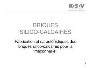 BRIQUES  SILICO-CALCAIRES