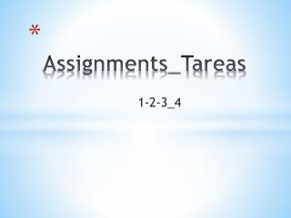 Assignments_Tareas