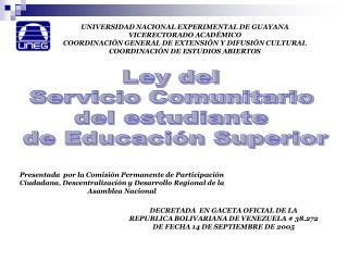 UNIVERSIDAD NACIONAL EXPERIMENTAL DE GUAYANA VICERECTORADO ACADÉMICO