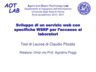 Sviluppo di un servizio web con specifiche WSRP per l�accesso ai laboratori