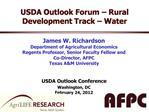 USDA Outlook Forum   Rural Development Track   Water