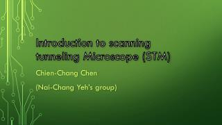 Introduction to scanning tunneling Microscope (STM)