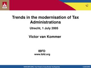 Trends in the modernisation of Tax Administrations