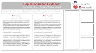 Population-based Evidence:  Key Cardiac Drugs Reduce Death and AMI