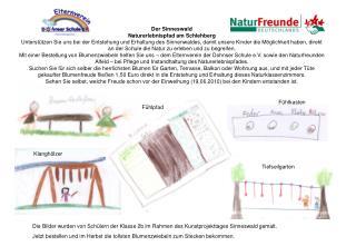 Die Bilder wurden von Schülern der Klasse 2b im Rahmen des Kunstprojekttages Sinneswald gemalt.