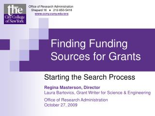 Finding Funding Sources for Grants