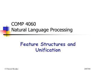 COMP 4060  Natural Language Processing