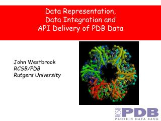 Data Representation,  Data Integration and API Delivery of PDB Data