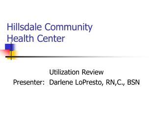 Hillsdale Community Health Center