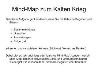Mind-Map zum Kalten Krieg