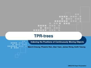 TPR-trees