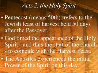 Acts 2: the Holy Spirit