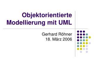 Objektorientierte Modellierung mit UML
