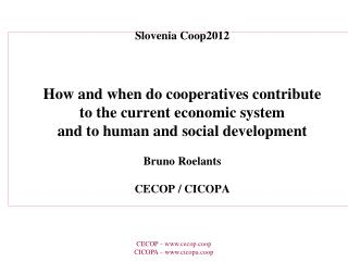 European confederation of cooperatives active in industry and services