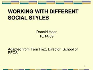 Working with Different Social Styles