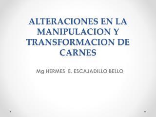 ALTERACIONES EN LA MANIPULACION Y TRANSFORMACION DE CARNES
