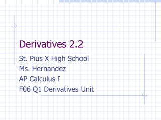 Derivatives 2.2