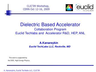 Dielectric Based Accelerator  Collaboration Program