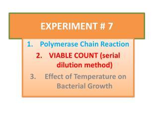 EXPERIMENT  # 7