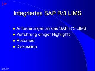 Integriertes SAP R/3 LIMS