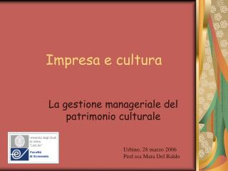 Impresa e cultura