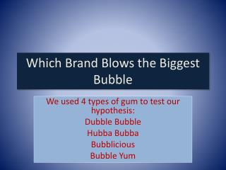 Which Brand Blows the Biggest Bubble