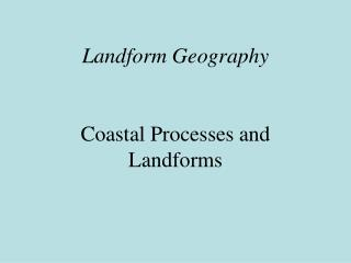 Landform Geography
