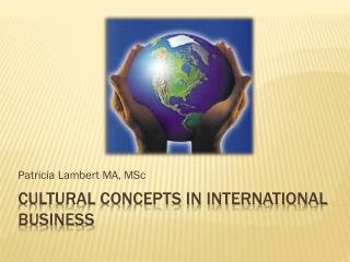Cultural Concepts in International Business