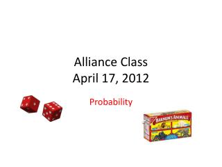 Alliance Class April 17, 2012