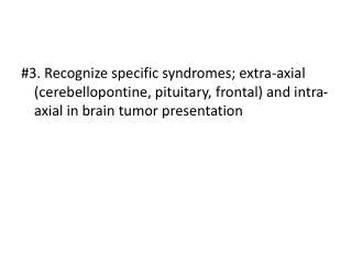 Extra-axial Tumors