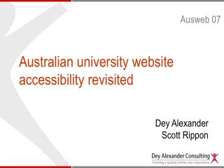 Australian university website accessibility revisited