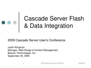 Cascade Server Flash & Data Integration