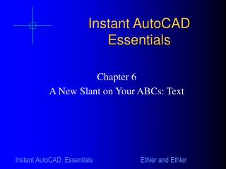 Instant AutoCAD Essentials
