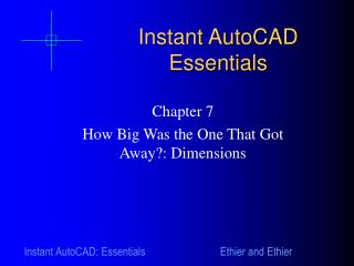 Instant AutoCAD Essentials