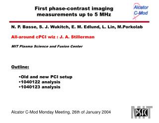 First phase-contrast imaging measurements up to 5 MHz