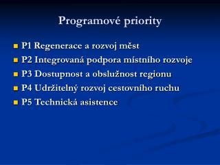Programové priority