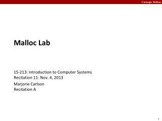 Malloc  Lab