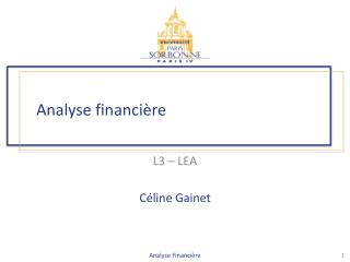 Analyse financi�re
