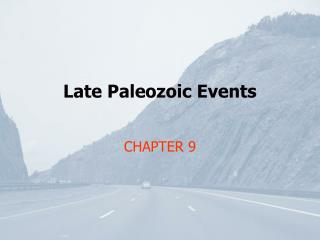 Late Paleozoic Events
