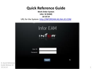 1. Preparing  your Browser for INFOR EAM