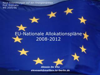EU-Nationale Allokationspläne   2008-2012