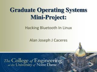 Graduate Operating Systems Mini-Project: